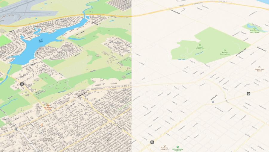 Σύγκριση μεταξύ των νέων και των παλαιότερων Maps, σε ό,τι αφορά τον όγκο της πληροφορίας